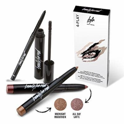 Beauty For Real 4-Play Eye Quartet - 4 Piece Set 2x Eyeshadow, Eyeliner, Mascara, (ADL+MM)
