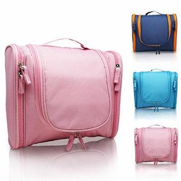 MANUKA Heavy Duty Premium Large Waterproof Hanging Toiletry Bag - Shaving Kit Organizer For Men and Cosmetics Makeup Bag For Women Pink