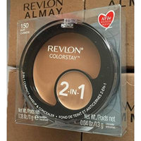 Revlon ColorStay 2 In 1 Compact Makeup & Concealer-150 Buff,(Pack of 4)