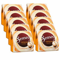 Senseo Coffee Pads Cappuccino Caramel, Coffee with Caramel Flavour, New Recipe 10 Pack, 10 x 8 Pods