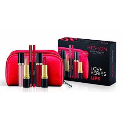 Revlon Love Series Lips Gift Set- Lipsticks, Lipgloss, Lipliner and Makeup Bag …