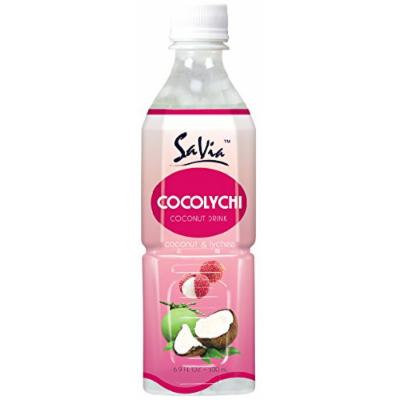 SaVia Coconut Drink with Lychee Flavor (16.9OZ/500ML Bottles 10 Count)