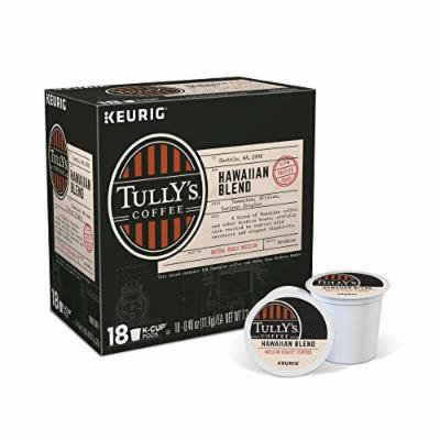 Tully's Coffee Hawaiian Blend Keurig Single-Serve K-Cup Pods, Medium Roast Coffee, 18 Count