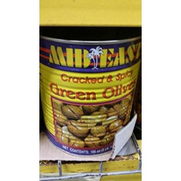 Mid East Cracked and Spicy Green Olives 106 Oz (2 Pack)