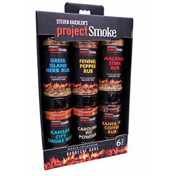 Steven Raichlen Project Smoke BBQ Spice Rub Seasoning Combo Gift Pack - 5 Pack World Wide Barbeque Set