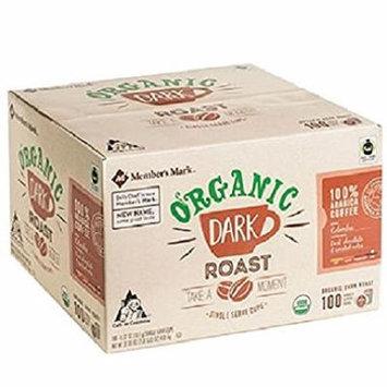 Member's Mark Organic Dark Roast Coffee (100 single-serve cups)