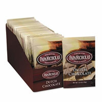 PAPANICHOLAS COFFEE 79224 Premium Hot Cocoa, Dutch Chocolate, 24/Carton