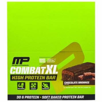 MusclePharm, Combat XL, High Protein Bar, Chocolate Brownie , 12 Bars, 38 oz (pack of 1)
