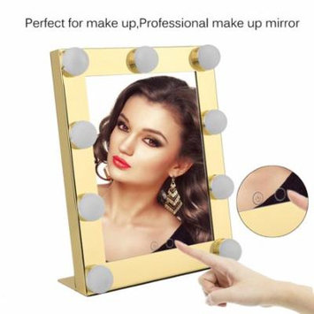 Led Bulb Vanity Lighted Hollywood Makeup Mirror with Dimmer Stage Beauty Mirror Gold
