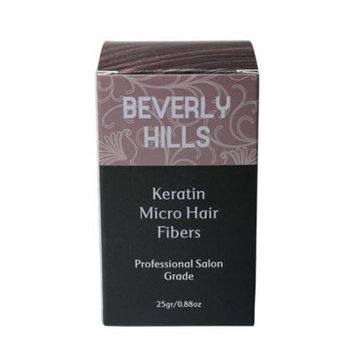 Hair Building Keratin Fibers - Conceal Hair Loss, Add Thickness and Body, and Thicken Thinning Roots - for Men and Women by Beverly Hills (Dark Brown)