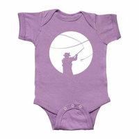 Fly Fishing silhouette Infant Creeper