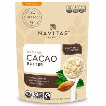 Navitas Organics, Organic Cacao Butter, 8 oz (pack of 4)