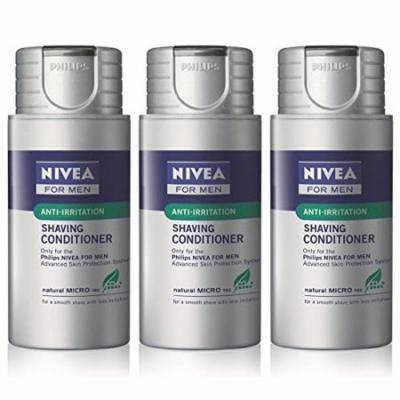 Norelco NORHS8003 Norelco Philips Norelco Nivea for Men Shaving Conditioner Pack Of 3 HS800, Ship from America