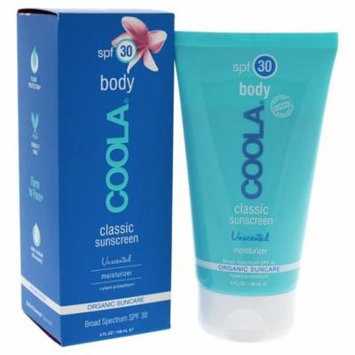 Body Classic Sunscreen Moisturizer SPF 30 - Unscented by Coola for Unisex - 5 oz Sunscreen