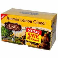 Celestial Seasonings, Herbal Tea, Jammin' Lemon Ginger, Caffeine Free, 20 Tea Bags, 1.6 oz(pack of 6)