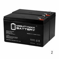 12V 7.2AH SLA Replacement Battery for APC ES 8 650VA BE650R - 2 Pack