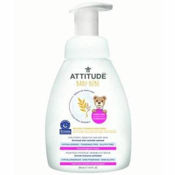 Attitude Baby Sensitive Skin Care Natural Foaming Hand Wash, Fragrance Free, 8.4 Oz