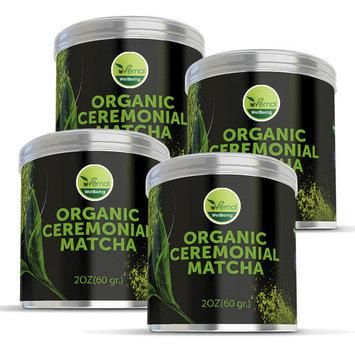 4 Pack Organic Ceremonial Matcha - Best Taste - USDA Organic - Energy Booster - Green Tea Powder (2oz)