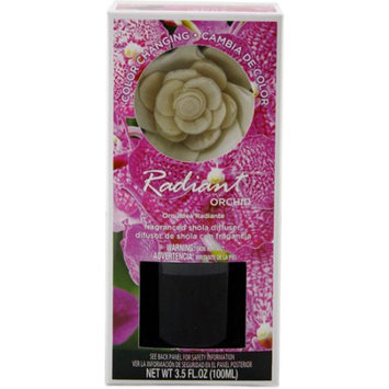 Flora Classique, Inc. Color Changing Fragranced Reed Diffuser, 3.4 oz Radiant Orchid Fragrance