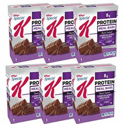 Kellogg's Special K Protein Chocolatey Brownie Dessert-Inspired Meal Bar, 1.59 oz 5 ct (Chocolatey Brownie, Pack of 6)