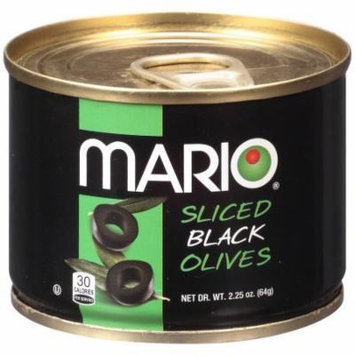 Mario Sliced Black Olives, 2.25-Ounce Cans (Pack of 6)