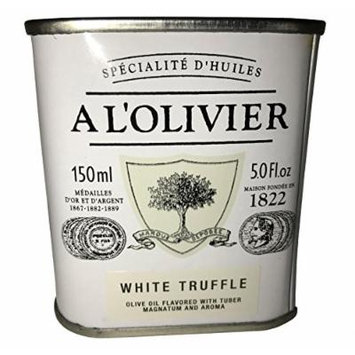 L'Olivier White Truffle Infused Extra Virgin Olive Oil Tin - 5 oz. (Pack of 2)