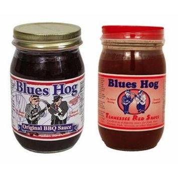 Blues Hog Original BBQ Sauce 16 oz & Tennessee Red Sauce, 16 oz (Combo Pack)
