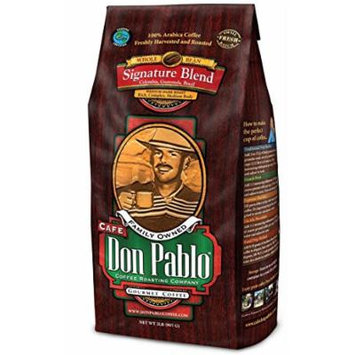2LB Cafe Don Pablo Signature Blend Gourmet Coffee - Medium-Dark Roast - Whole Bean Coffee - 100% Arabica, 2 Pound