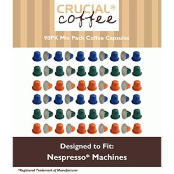 90 Coffee Capsules, The Morning Grind, Afternoon Hustle, & The Closer, Blend of Top South American Beans, Used in Most Nespresso Machines, by Think Crucial