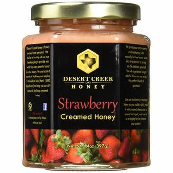 Raw Creamed Honey + Strawberry