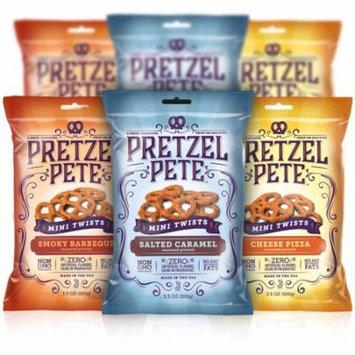 Pretzel Pete Mini Twist Sampler, Variety Pack, 3.5 Oz, Pack of 6