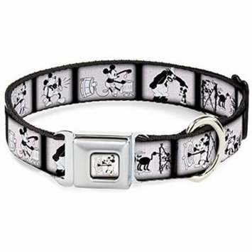 Dog Collar DYGK-Steamboat Willie Mickey Mouse Smiling Full Color White Pet Collar