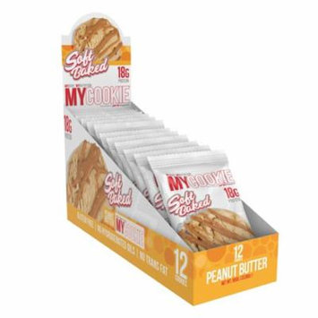 MyCookie, Soft Baked Protein Cookie, Peanut Butter, 12 Count