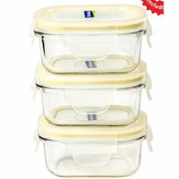 Glasslock Yum Yum Rectangular Baby 0.675 Cup Food Storage Container