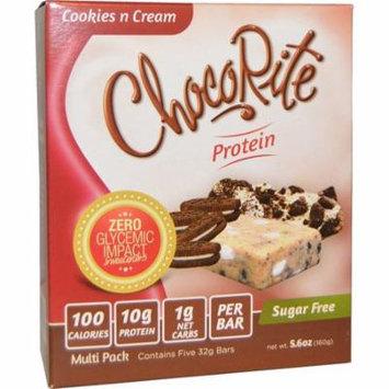 HealthSmart Foods, Inc., ChocoRite Cookies n Cream Bars, 5 protein bars, 5.6 oz (32 g) Each(pack of 2)