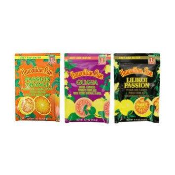Hawaiian Sun Drink Mix Pack of 3 (Lilikoi Passion, Passion Orange, Guava)