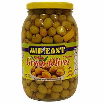 Mid East Baladi Green Olives 48oz
