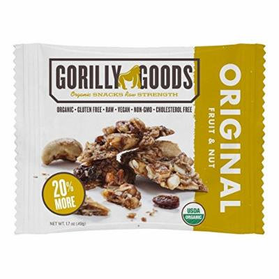 GORILLY GOODS, Organic Fruit & Nuts; Original - Pack of 12