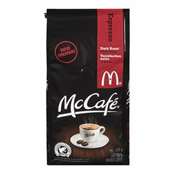 McDonalds McCafe Premium Dark Roast Espresso Whole Beans Coffee Bag, 300g, 10.58oz