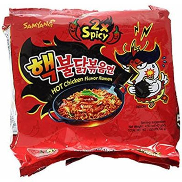 Samyang 2X Spicy Hot Chicken Flavor Ramen, 10Pack (140 g Each) GKFLW