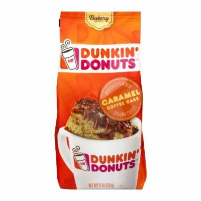 Dunkin' Donuts Bakery Series Ground Coffee, Caramel Coffee Cake, 11 oz (Pack of 12)