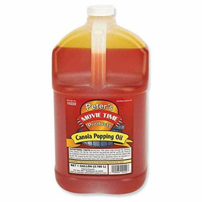 Great Western Peters Movie Time Canola Popping Oil, 4 Gallon -- 1 each.