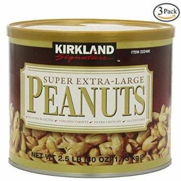 Kirkland Signature Super XL VA Peanuts, 40 Ounce, 3 Pack