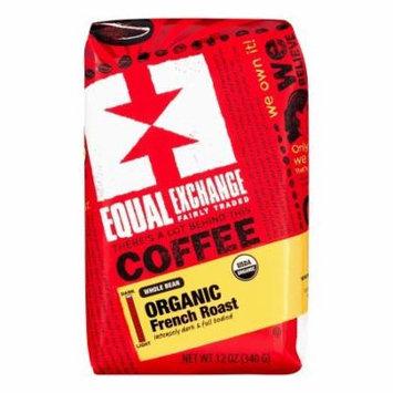 Equal Exchange Organic Coffee (Dark Roast, French Roast, Whole Bean, 12 Oz, Pack Of 5)