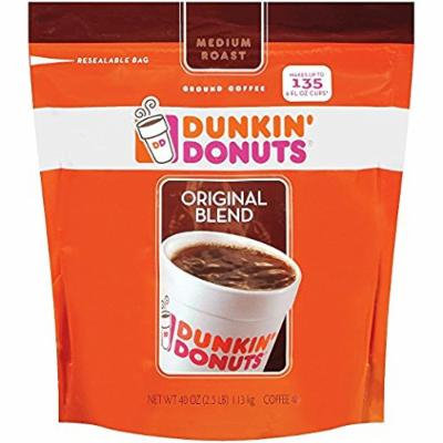 Dunkin' Donuts Original Medium Roast Blend Coffee, 2Pack (40oz Each) Qgkrld