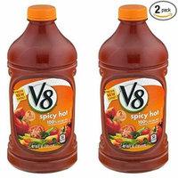V8 Spicy Hot 100% Vegetable Juice, 64.0 FL OZ (Pack of 2)