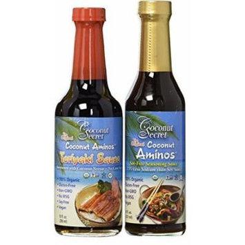 Coconut Secret Coconut Aminos - Teriyaki Sauce & Aminos Sauce - Pack of 2