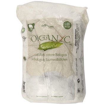 Organyc Beauty 100% Organic Cotton Balls, 300 Count