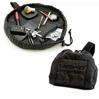 Lay-n-Go Cosmo Cosmetic Bag 20'' Black Travel Organizer Make up Bag for Travel