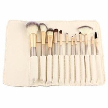 Hoter® 12 Pcs Champagne Professional Makeup Brush Set - White